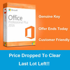 Microsoft Office 2016 Pro Professional Plus 32/64 Bit - Windows PC - License Key
