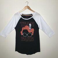 Hot Topic Stranger Things Team Barb Raglan Baseball Tee T-Shirt NEW