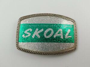 Vintage Skoal Belt Buckle Tobacco Advertising Vtg