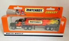 MATCHBOX CONVOY MATTEL WHEELS MACK CH600 BOX TRAILER MATCHBOX 1990 1:97 CHINA