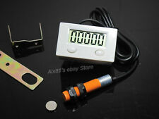 LCD Punch Counter Digital 5 Digit Including Proximity Switch & Strong Magnetic