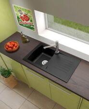 Lavabo fregadero cocina integrado Mineralite 86 X 50 negro Respekta