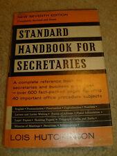 Standard Handbook For Secretaries by Lois Hutchinson - 1967