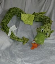 EUC IKEA Minnen Drake Dragon Green Large Plush Long Stuffed Animal Serpent Toy