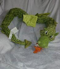 EUC IKEA Minnen Drake Dragon Green Large Plush Long Stuffed Animal Serpent Toy