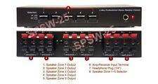 5-Way Speaker Selector Distribution Center For Speaker Hookup Expansion