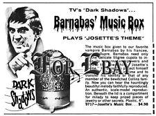 VINTAGE DARK SHADOWS JOSETTE MUSIC BOX AD LARGE REPRINT 10X7-1/2