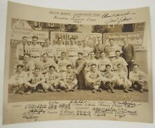 1940 Signed baseball team photo Philip Morris Metropolitan Industrial League NY