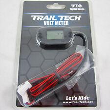 Trail Tech TTO Volt Meter Digital Gauge Black Voltage Front Button 742-V00-BL