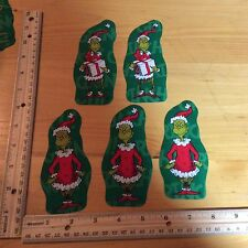 Style#5. The Grinch Who Stole Christmas Fabric Iron On Appliques - Christmas