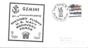 NEOSHO (AO-143) 29 August 1965 Gemini 5 US Navy Atlantic Recovery Force