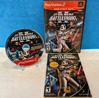 Star Wars: Battlefront II - Greatest Hits (Sony PlayStation 2, 2005) w/Manual