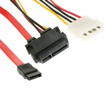 7+15 22 Pin Power/Data Sata to 4-Pin IDE Molex & Sata Port Connector Combo Cable