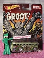 2015 Marvel  Surfin' Autobús Escolar  Groot !✰ Verde; Real Riders ✰ Hot Wheels