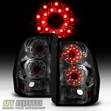 Smoke 2002-2009 Chevy Trail Blazer Trailblazer LED Tail Lights Brake Lamps Pair