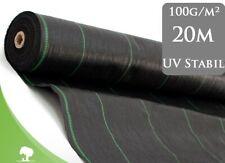 100m² Bodengewebe Unkrautvlies  Mulchfolie Beet 100g 1,65m Paddockplatten /%/%
