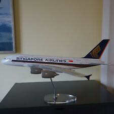 1/100 Singapore Airlines Airbus A380 Plane Model Acrylic Chrome OR Wooden Stand