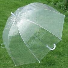 "21"" Transparent Clear Rain Umbrella Parasol Parapluie Dome for Wedding Party"