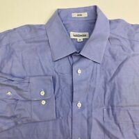 Joseph & Feiss Button Up Dress Shirt Men's 18 34/35 Long Sleeve Blue Non Iron