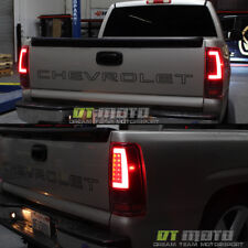 Black 2003-2006 Chevy Silverado 1500 LED [Light Bar] Tail Lights Lamp Set 03-06
