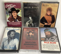 vintage country music cassette tapes lot-George Strait,Reba,Garth Brooks,Haggard