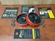 2 New Universal Pallet Jack Steer Wheels ProLiftHD W Bearings Poly Tread Pair