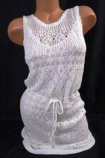 Victoria's Secret sz XL~Crochet Knit Tie-Waist Sweaterdress~removable slip liner