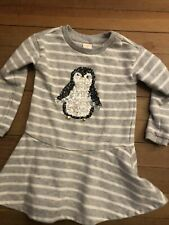 Gymboree Sequined Penquin Tunic Top Girl 4T