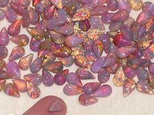 10pc Miniature Ab Fire Opal Crystals Little Glass Angel wing fairy tear drop ***