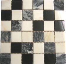 1 sq m marbre mosaïque pierre mur carreaux noir blanc gris mélange sol mur 0060