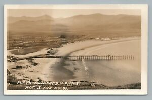 Playa Ensenada RPPC Baja California—Rare Antique Photo Foto Tarjeta 1930s