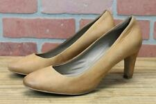 ECCO Womens Heels Size 41 Brown Leather Pumps Size 10 Round Toe-6034