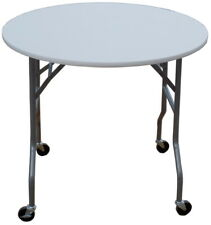 """Banquet Tables Pro ® - 36"""" Round Folding Table on Wheels (Great for weddings)"""