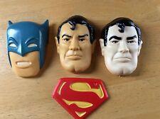 Vintage 1977 DC Comics BATMAN SUPERMAN WILTON CAKE TOPPERS 503-857 / 503-814