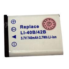 Battery photography Pentax, Olympus LI40B, LI42B. Batteries Cameras video