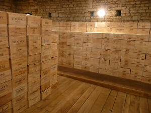 Wine Box Crate. Wooden. 6 bottle size. French, Genuine. <2>