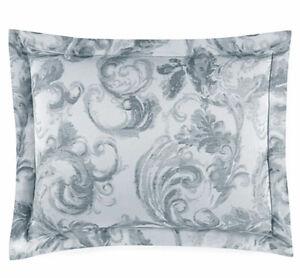 Sferra Isella Standard Sham Storm Grey Egyptian Cotton Sateen Jacquard Italy New