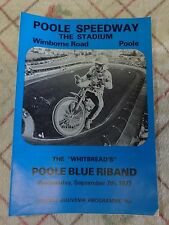 COLLECTABLE SPEEDWAY PROGRAMME. POOLE BLUE RIBAND.  7/9/1977