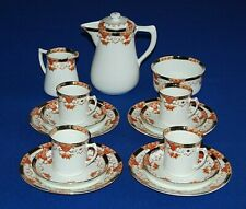 Antique Sutherland China 15 Piece Coffee Set. C1900.