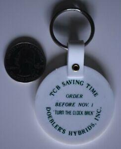 Doebler's Hybrids Inc Seed Company TCB Saving Time Keychain Key Ring #28599