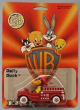 ERTL Warner Bros Daffy Duck in Fire Engine - New & Carded