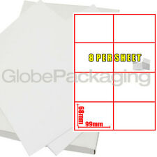 20 Sheets Of Printer Address Labels - 8 Per Page Sheet