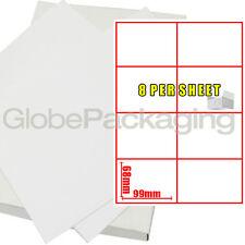20 feuilles de Imprimante étiquettes d'adresse - 8 par Page Feuille