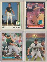 Lot of 4 w/ 1987 Donruss Mark McGwire RC Rookie #46 Oakland Athletics Cardinals