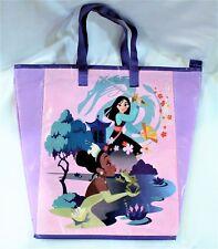 Disney Princess Reusable Bag Zippered Top Eco Friendly Shopping Travel Tote