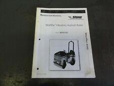 Stone Wp4100 Wolfpac Vibratory Compactor Asphalt Roller Operator Manual