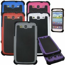 for samsung galaxy S3 rugged hybrid 3 layers  case blue gray hot pink white