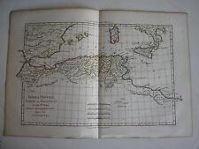 CARTE AFRICA PROPRIA Numidia et Mauritania par BONNE carte ancienne 1780    75