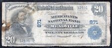 1902 $20 THE MECHANTS NB OF MEADVILLE, PA NATIONAL CURRENCY CH. #871