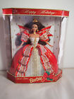 1997 Holiday Barbie Doll Bown Hair & Red Dress With Gold Trim